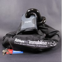 Almax Immobiliser Series V EXTREME 22mm + Squire SS80CS Stronghold Lock